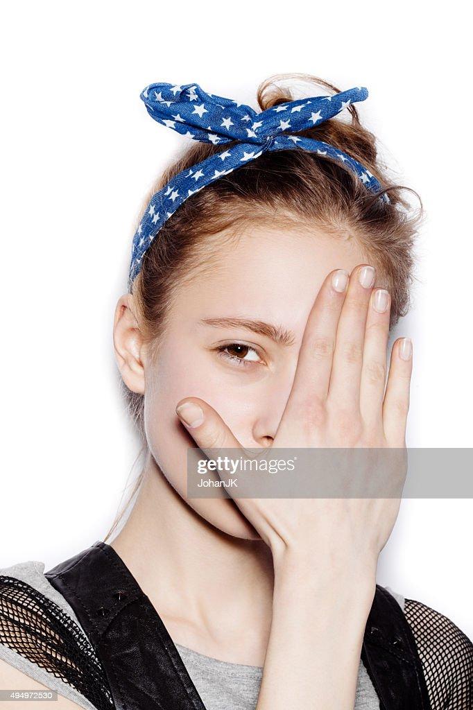 Cute teen face