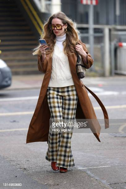 Stylish Diana Vickers arrives at Mortlake studio ahead of recording new music inspired by her experiences in lock down. The singer/songwriter turned...