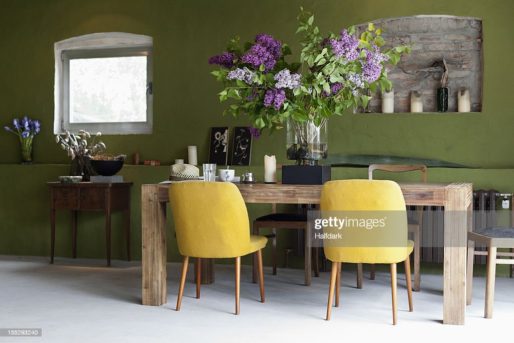 A stylish dining room : Stock Photo