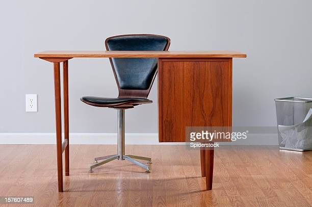 stylish home office - mid century modern stock pictures, royalty-free photos & images