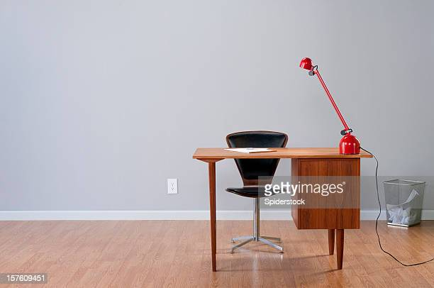 stylish home office - angle poise lamp stock pictures, royalty-free photos & images