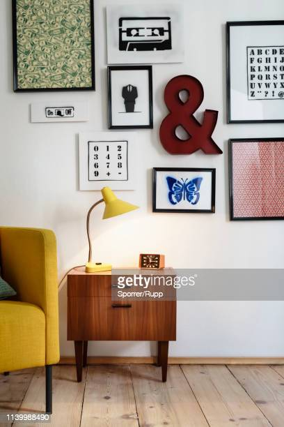 stylish house interior - angle poise lamp stock pictures, royalty-free photos & images