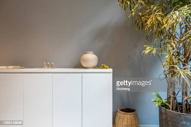 stylish living room - living room wallpaper stock pictures, royalty-free photos & images