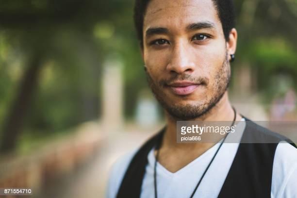 Eleganta mannen porträtt
