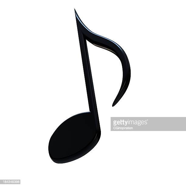 stylish music note - musical note stock photos and pictures