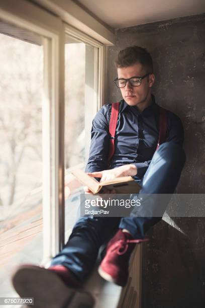 stylish nerd - poet stock pictures, royalty-free photos & images