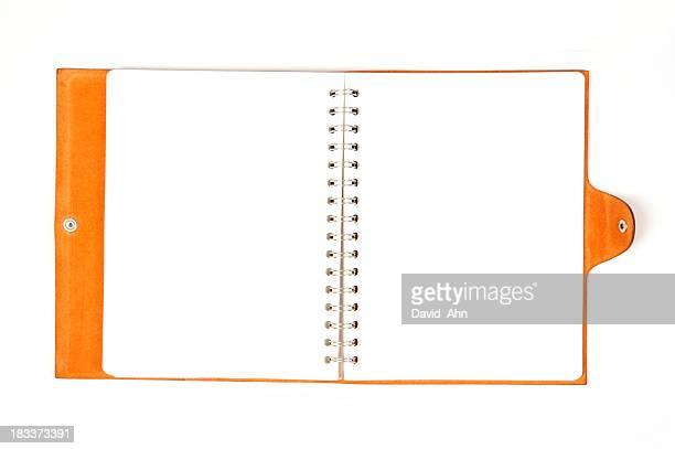 Stylish Orange Leather Notebook