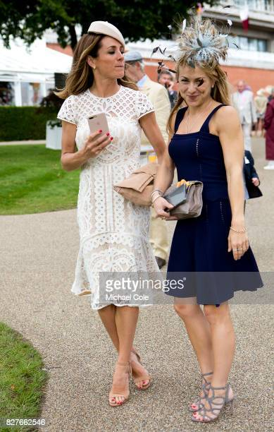 Stylish racegoers 'Ladies Day' at 'Glorious Goodwood' The Qatar Goodwood Festival at Goodwood Racecourse August 3 2017 in Chichester England