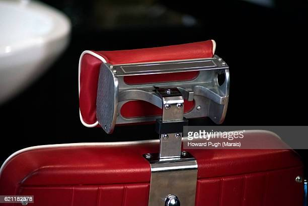 Stylish Red Leather Barber Chair