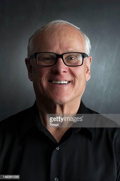 Stylish senior male smiling portrait