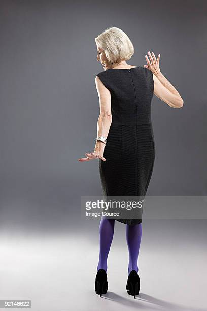 stylish senior woman - old women in pantyhose stock pictures, royalty-free photos & images
