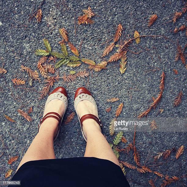 Stylish shoes woman