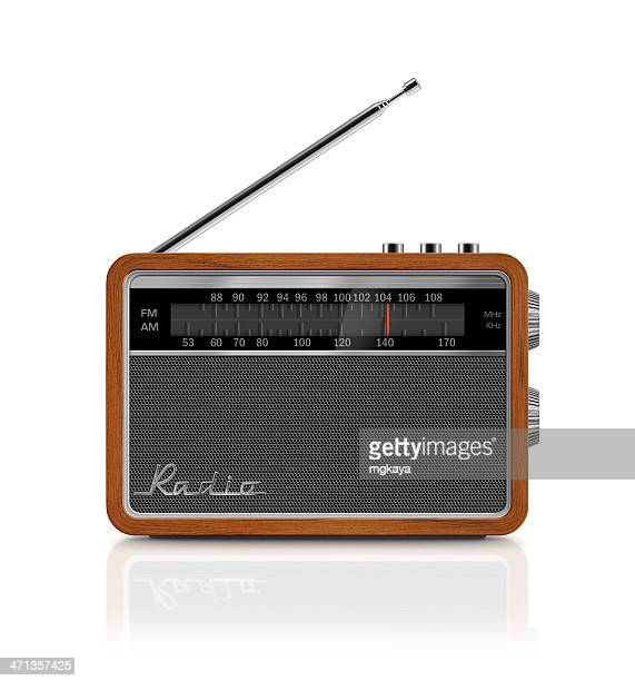 stylish vintage portable radio - radio stock pictures, royalty-free photos & images