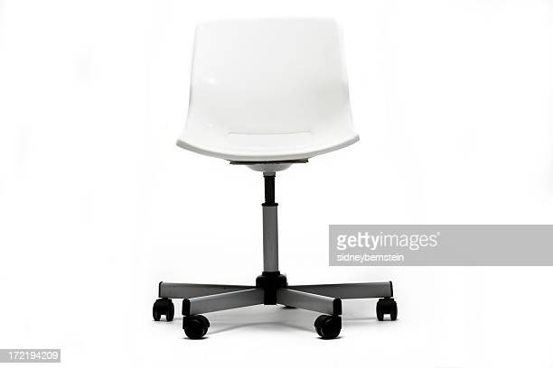 stylish white office chair - office chair stock pictures, royalty-free photos & images