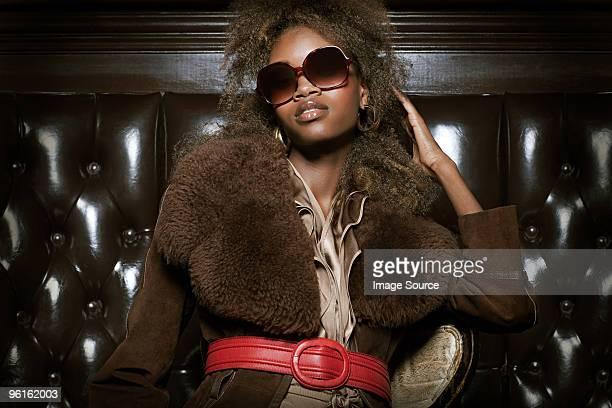 Stylish woman in nightclub