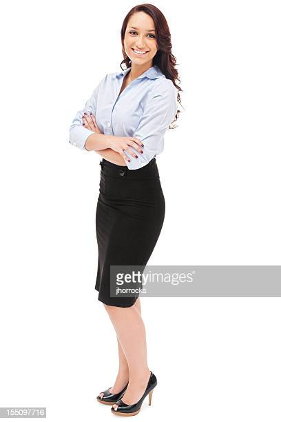 Elegante joven empresaria hispana