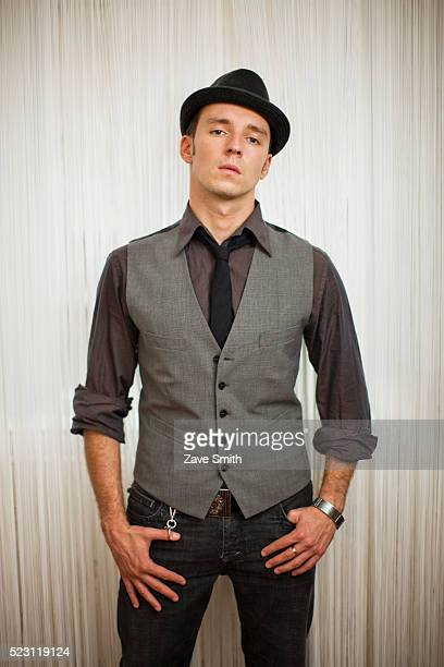 stylish young man - fedora stock pictures, royalty-free photos & images
