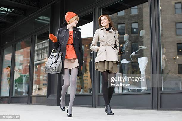 stylish young women - タイツ ストックフォトと画像