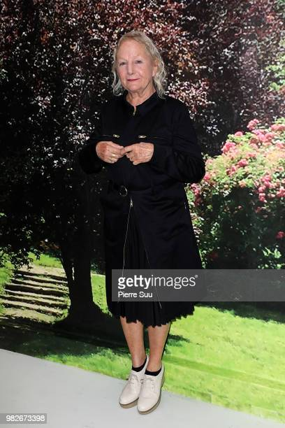 Stylist Agnes B attends the Agnes B Menswear Spring/Summer 2019 show as part of Paris Fashion Week on June 24 2018 in Paris France