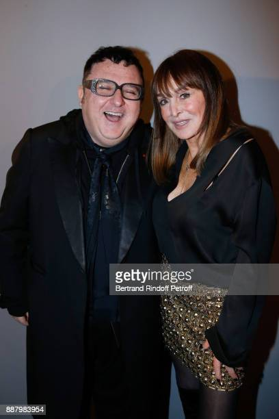 Stylist Alber Elbaz and Babeth Djian attend the Annual Charity Dinner hosted by the AEM Association Children of the World for Rwanda at Pavillon...