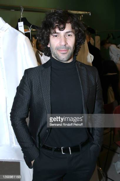 Stylist Alexis Mabille poses prior his Haute Couture Spring/Summer 2020 show as part of Paris Fashion Week on January 21, 2020 in Paris, France.