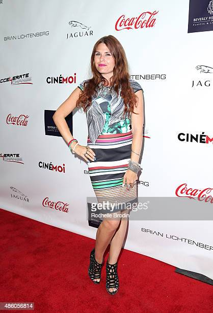 Stylist Ali Levine arrives at the Accelerate4Change charity event presented by Dr Ben Talei Cinemoi on August 29 2015 in Beverly Hills California