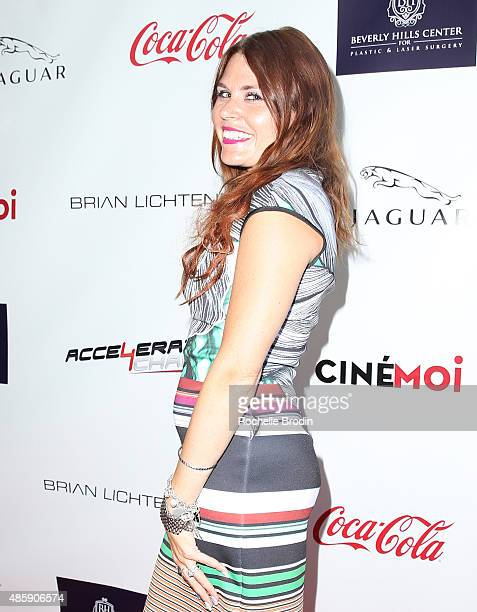 Stylist Ali Levine attends the Accelerate4Change charity event presented by Dr Ben Talei Cinemoi on August 29 2015 in Beverly Hills California