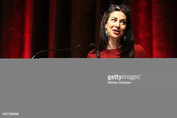 Stylist and author Stacy London speaks at the Bottomless Closet 17th Anniversary Spring Luncheon on May 19 2016 in New York City