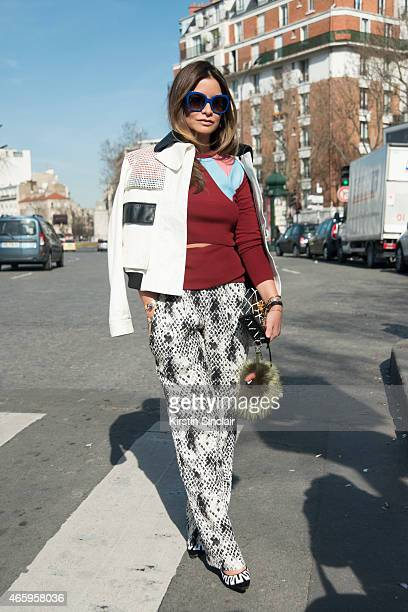 Stylist and creative consultant Luisa Fernando Espinosa wears Emanuel Ungaru trousers Proenza Schouler jacket Louis Vuitton bag and shoes Fendi...