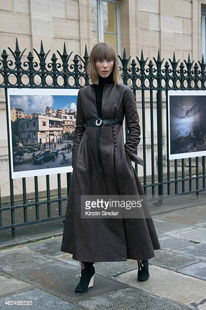 Stylist Anya Ziourova on day 4 of Paris Haute Couture Fashion Week Spring/Summer 2015 on January 28 2015 in Paris France