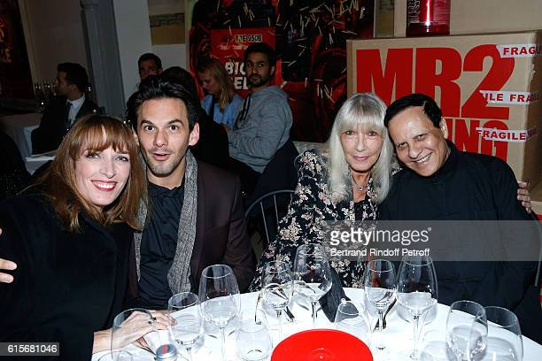 Stylist Azzedine Alaia Actress Dany Saval her daughter Stephanie Jarre and Tenor Laurent Arcaro attend the Dinner at Galerie Azzedine Alaia with a...