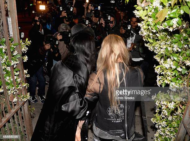 Stylist B Akerlund and singer Fergie Duhamel attend Chrome Hearts Kate Hudson Host Garden Party To Celebrate Collaboration at Chrome Hearts on May 8...
