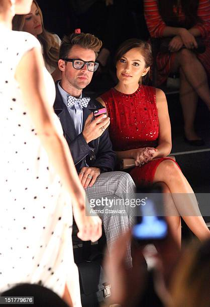 Stylist Brad Goreski and actress Minka Kelly attend TRESemme at Jenny Packham Spring 2013 MercedesBenz Fashion Week at The Studio at Lincoln Center...