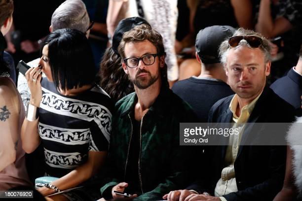 Stylist Brad Goreski attends the Diane Von Furstenberg fashion show during MercedesBenz Fashion Week Spring 2014 at The Theatre at Lincoln Center on...