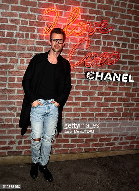 Stylist Brad Goreski attends the I Love Coco Backstage Beauty Lounge at Chateau Marmont's Bar Marmont on February 25 2016 in Hollywood California