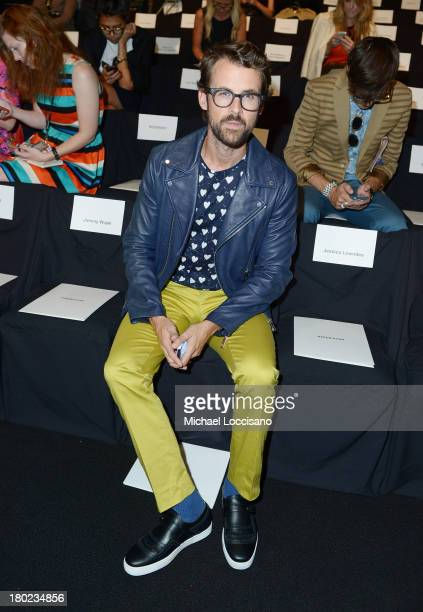 Stylist Brad Goreski attends the Naeem Khan fashion show during MercedesBenz Fashion Week Spring 2014 at The Theatre at Lincoln Center on September...