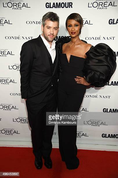 Stylist Brandon Maxwell and model Iman attend 2015 Glamour Women Of The Year Awards at Carnegie Hall on November 9 2015 in New York City