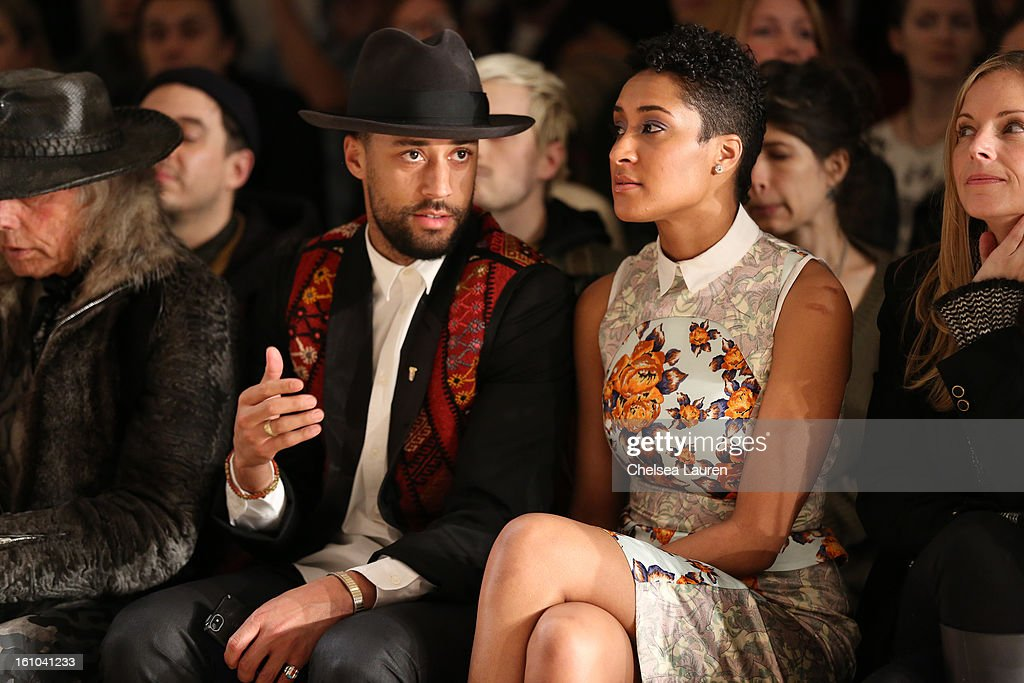 Stylist Browne and Kimberly Chandler attend the Suno fall 2013 fashion show during MADE Fashion Week at Milk Studios on February 8, 2013 in New York City.
