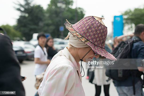 Stylist Catherine Barba on day 2 of Paris Collections Womens Haute Couture on July 02 2013 in Paris France