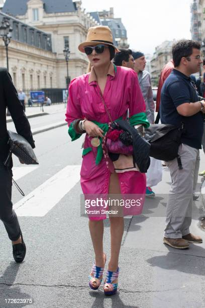 Stylist Catherine Barba on day 3 of Paris Collections Womens Haute Couture on July 03 2013 in Paris France