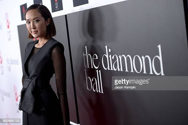 Stylist Chriselle Lim attends the 2nd Annual Diamond Ball hosted by Rihanna and The Clara Lionel Foundation at The Barker Hanger on December 10 2015...