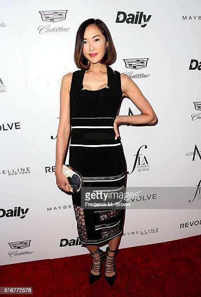 Stylist Chriselle Lim attends the Daily Front Row 'Fashion Los Angeles Awards' at Sunset Tower Hotel on March 20 2016 in West Hollywood California