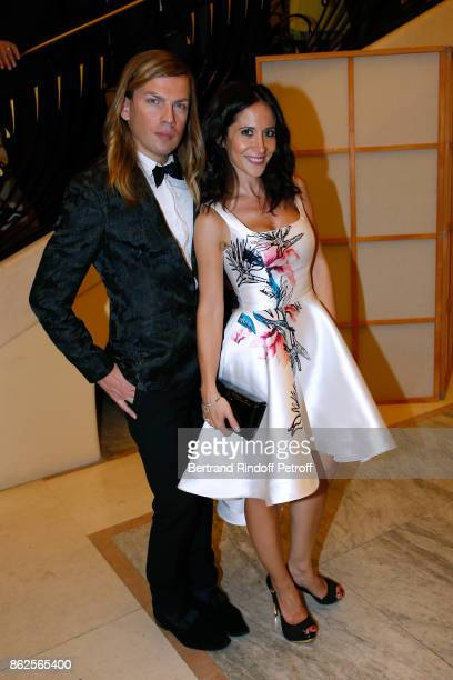 Stylist Christophe Guillarme and actress Fabienne Carat attend the 25th 'Gala de l'Espoir' at Theatre des ChampsElysees on October 17 2017 in Paris...