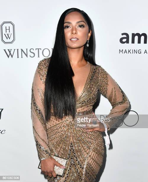 Stylist Deepica Mutyala attends the amfAR Gala at Ron Burkle's Green Acres Estate on October 13 2017 in Beverly Hills California
