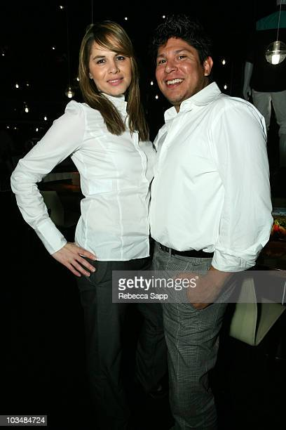 Stylist Denise Valdez and Xavier Alvarez attend Reebok 2009 Collection Preview at STK on November 18 2008 in Los Angeles California