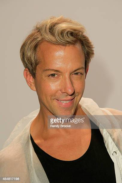Stylist Derek Warburton attends the Academy Of Art University Spring 2015 Collections during MercedesBenz Fashion Week Spring 2015 at The Theatre at...