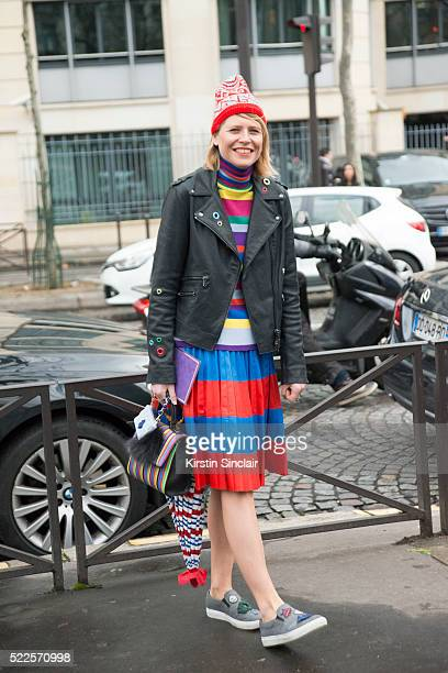 Stylist Elisa Nalin on day 9 during Paris Fashion Week Autumn/Winter 2016/17 on March 9 2016 in Paris France Elisa Nalin