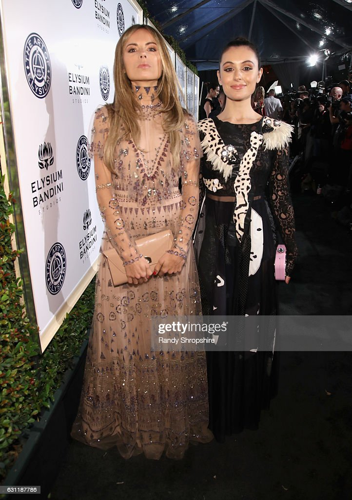 Stylist Erica Pelosini (L) and Marta Pozzan attend The Art of Elysium presents Stevie Wonder's HEAVEN - Celebrating the 10th Anniversary at Red Studios on January 7, 2017 in Los Angeles, California.