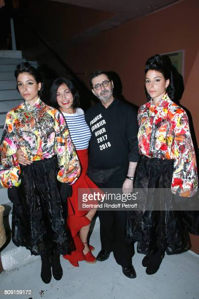 Stylist Franck Sorbier Singer Lio and her twins Garance and Lea attend the Franck Sorbier Haute Couture Fall/Winter 20172018 show as part of Haute...