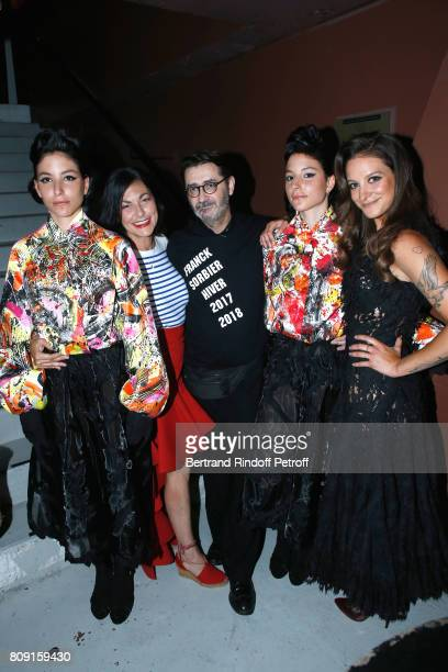 Stylist Franck Sorbier Singer Lio her daughter Nubia Esteban Godmother of the Collection and her twins Garance and Lea attend the Franck Sorbier...